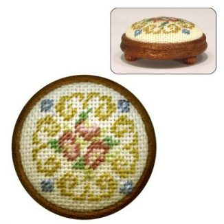 Dollhouse needlepoint footstool kit Judith