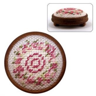 Dollhouse needlepoint footstool kit Kate (pink)