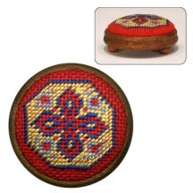 Dollhouse needlepoint footstool kit Katrina