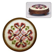 Dollhouse needlepoint footstool kit Sophie