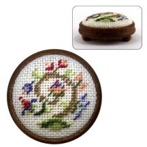 Dollhouse needlepoint footstool kit Tree Of Life