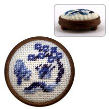 Dollhouse needlepoint footstool kit Willow Pattern