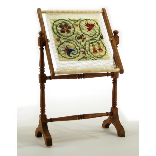Dollhouse needlepoint needlework stand kit - Tudor Panel