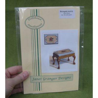 Alice blue dollhouse miniature stool desk bench petit point kit furniture accessories