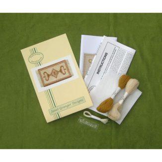 Alison gold small carpet rug miniature needlepoint petit point kit