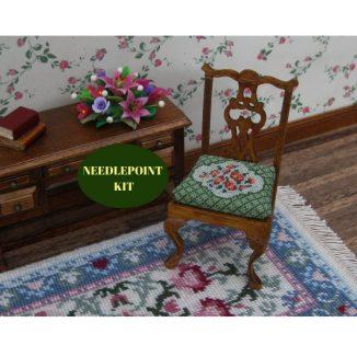 dollhouse needlepoint embroidery kit