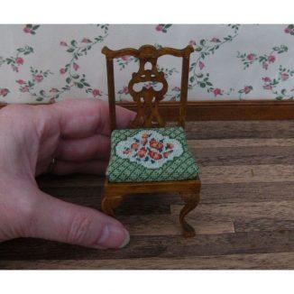 Barbara green dollhouse miniature chair needlepoint kit furniture accessories