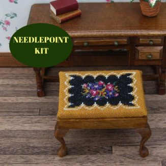 rectangular stool kit dollhouse needlepoint embroidery