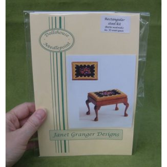 Berlin woolwork dollhouse miniature stool desk bench petit point kit furniture accessories