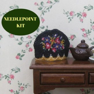tea cosy kit dollhouse needlepoint embroidery