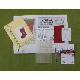 Candle petit point dollhouse needlepoint Christmas stocking kit