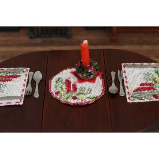table centre placemat kit dollhouse needlepoint petit point embroidery