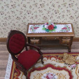 table runner kit dollhouse needlepoint petit point embroidery