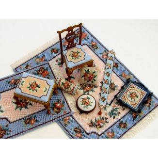 Dollhouse needlepoint Alice blue collection