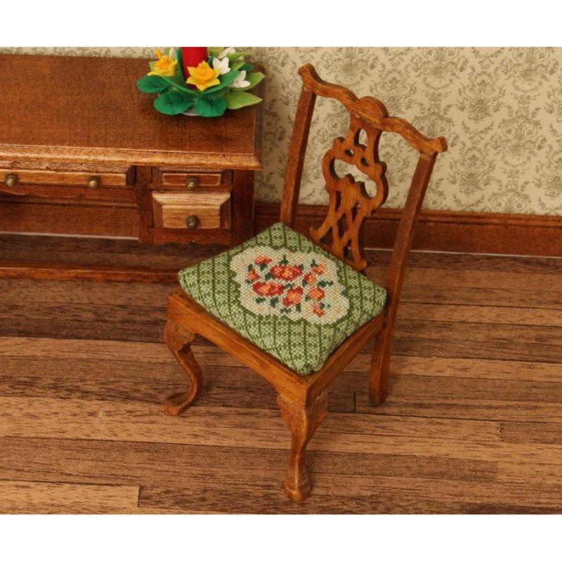 Dollhouse Needlepoint Dining Chair Kit, Barbara (green