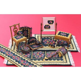 Dollhouse needlepoint Berlin woolwork matching kits
