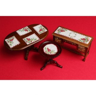 Dollhouse needlepoint Christmas candles collection of kits