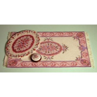 Dollhouse needlepoint Lilian pink collection