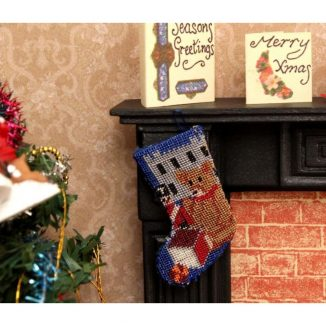Dollhouse needlepoint Toys for Boys Christmas stocking bedroom fireplace