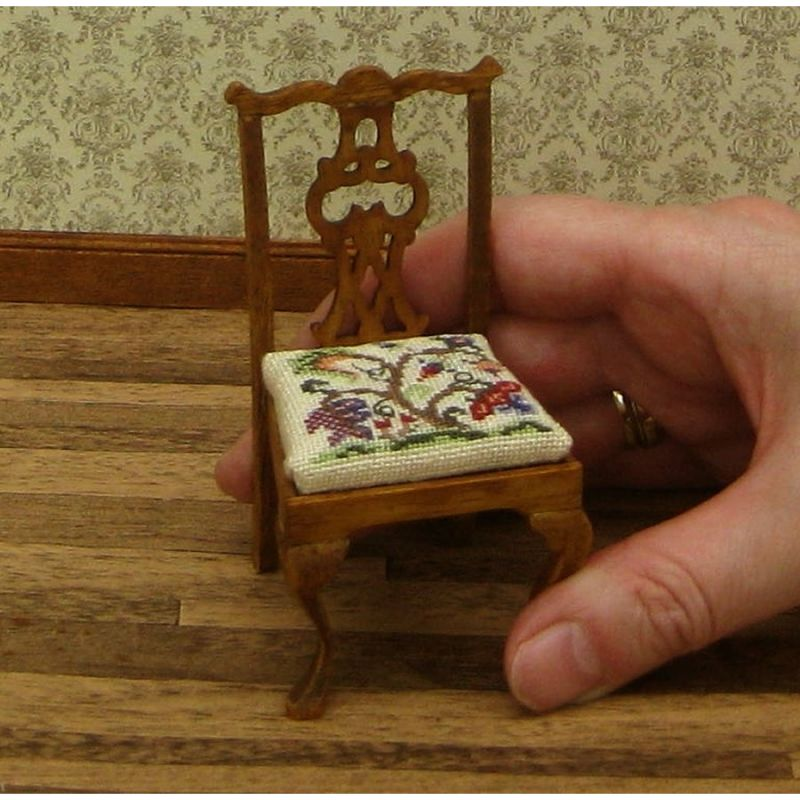 Dollhouse Needlepoint Dining Chair Kit Tree Of Life