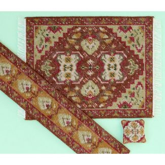 Dollhouse needlepoint Yvonne olive collection
