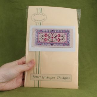 Dollhouse needlepoint carpet rug Carole pastel kit pack