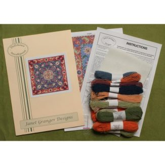 Dollhouse needlepoint carpet rug Elizabeth kit contents