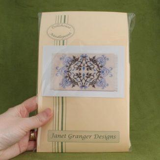 Dollhouse needlepoint carpet rug Josie blue kit pack