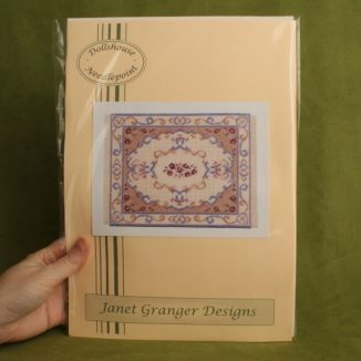 Dollhouse needlepoint carpet rug Judith embroidery kit
