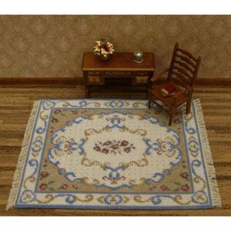 Dollhouse needlepoint carpet rug Judith living room furniture