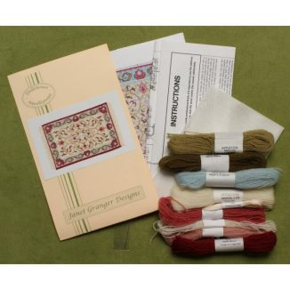 Dollhouse needlepoint carpet rug Prudence cream kit contents
