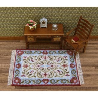 Dollhouse needlepoint carpet rug Prudence cream living room furniture