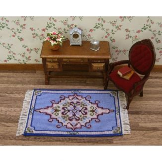 Dollhouse needlepoint carpet rug Sophie living room furniture