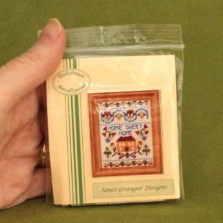 Dollhouse needlepoint sampler Home sweet home kit packet