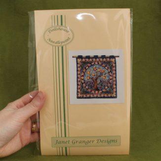 Dollhouse needlepoint wall hanging Orange Tree kit pack