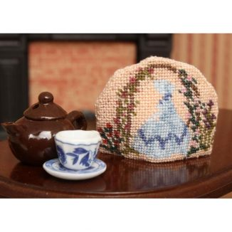 Crinoline lady teacosy dollhouse needlepoint petit point embroidery kit accessories