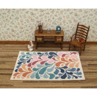 Janine carpet rug dollhouse miniature needlepoint embroidery petit point kit