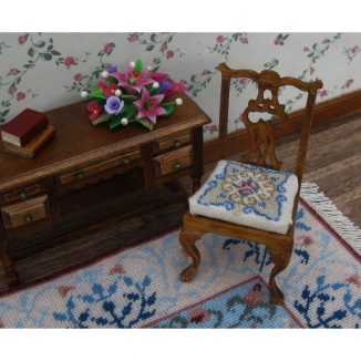 Judith dollhouse miniature chair needlepoint kit furniture accessories