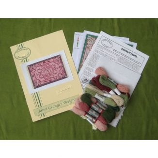 Kate large pink carpet dollhouse needlepoint rug kit