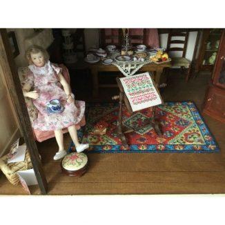 Katrina cottage room dollhouse needlepoint kit