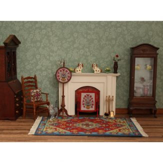 Katrina living room carpet miniature dollhouse embroidery kit