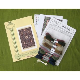May blue contents dollhouse needlepoint kit