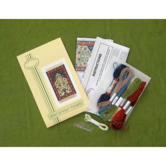 Natalia small prayer rug carpet miniature dollhouse petit point kit