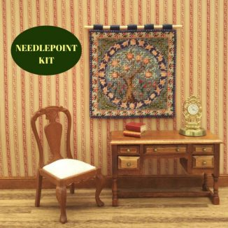 wall hanging tapestry kit dollhouse needlepoint petit point embroidery