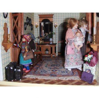 Patricia entrance hall miniature dollhouse needlepoint embroidery kit