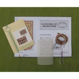 clutch bag purse kit dollhouse needlepoint petit point embroidery