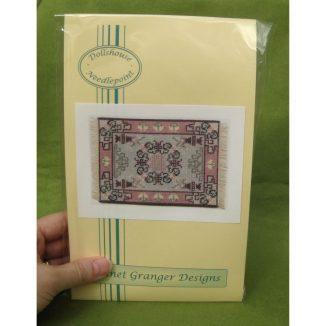 Ruth dollhouse miniature needlepoint ebroidery petit point carpet rug kit