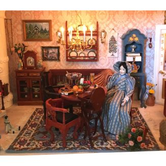 Saskia dining room carpet dollhouse needlepoint rug kit