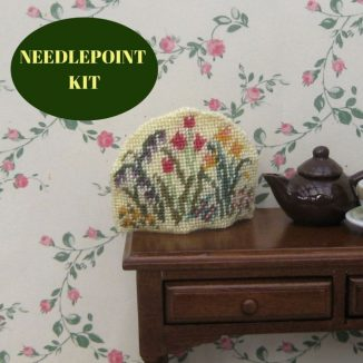 tea cosy kit dollhouse needlepoint embroidery