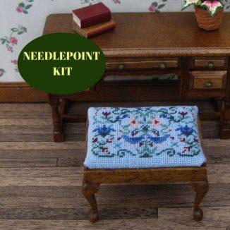 rectangular stool kit dollhouse needlepoint embroidery